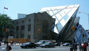 Façade extérieure du Musée royal de l'Ontario