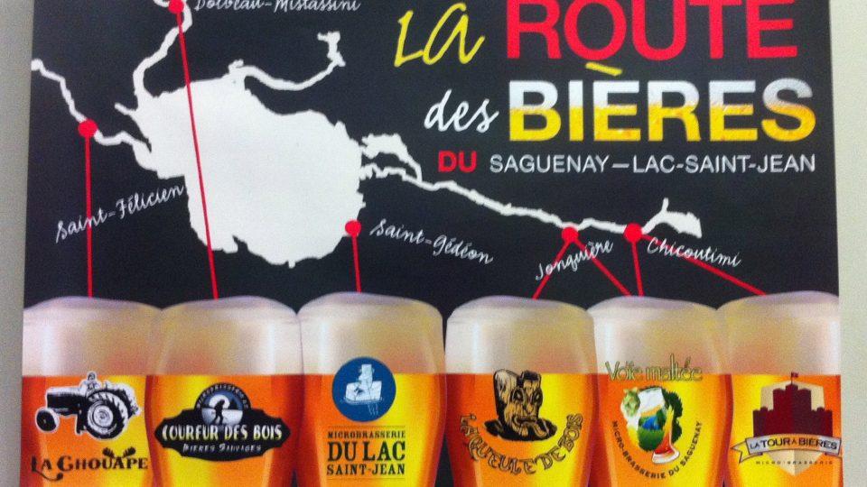 Carte de la Route des Bières du Saguenay-Lac-Saint-Jean
