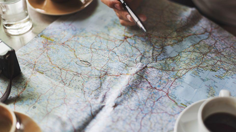 Carte vue de proche